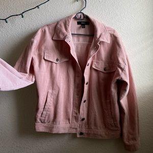 F21 Baby Pink Corduroy Jacket